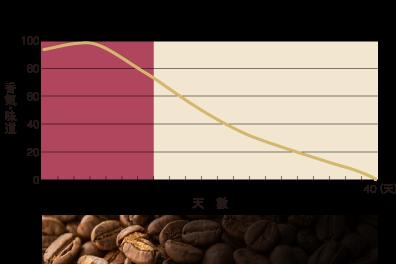 グラフ 珈琲豆の鮮度